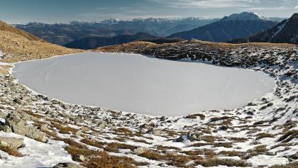 Ausblick nach Südosten: Laugen (rechts) und Dolomiten