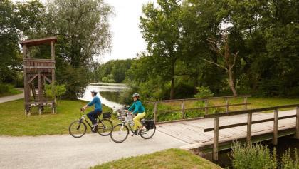 Radfahrer im Borkener Paradies - Meppen