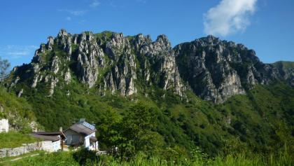 Letzte Schritte bis zur Berghütte Pernici