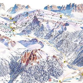 Cartina sciistica Alpe Lusia / San Pellegrino 2017