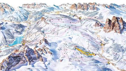 Cartina sciistica Civetta 2017
