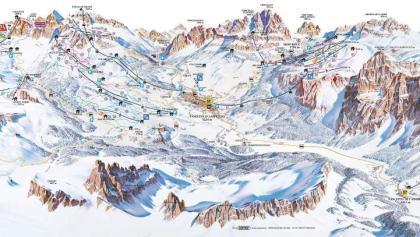 Cartina sciistica Cortina d'Ampezzo 2017