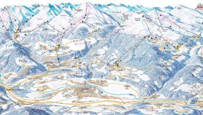 Cartina sciistica Val di Plose/ Gitschberg-Jochtal 2017