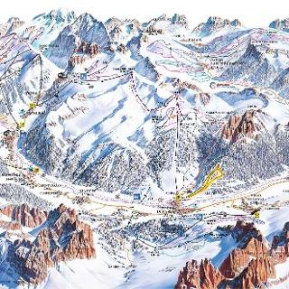 Cartina sciistica Val di Fassa/ Carezza 2017