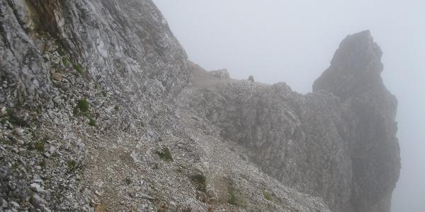 Die Steilen hänge der Kinigats - Trittsicherheit und Schwindelfreiheit!