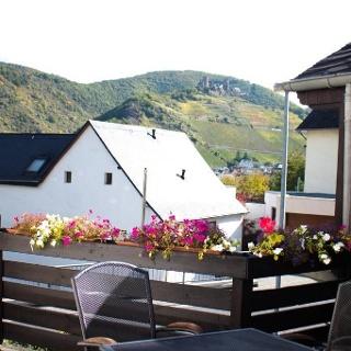 Blick vom Balkon der Fewo auf Alken
