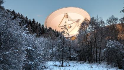 Die Attraktion des Weges: Das Radioteleskop Effelsberg