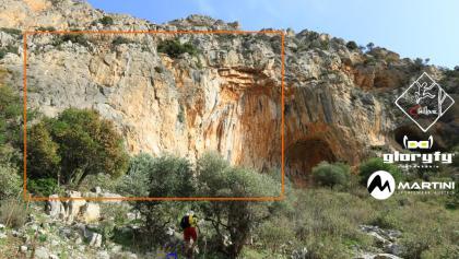 Klettergarten Twin Caves - Übersichtsbild - Topo