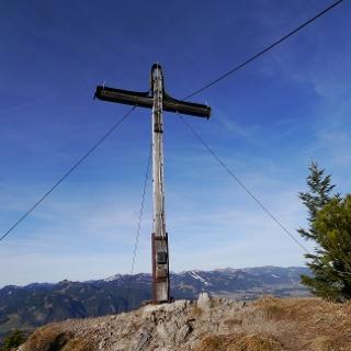 Das Gipfelkreuz des Schattenbergs
