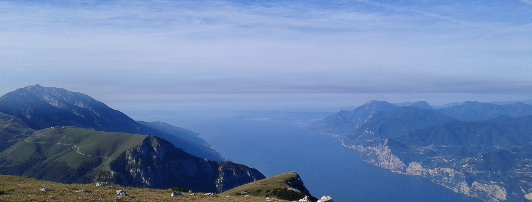 View on southern Lake Garda from Monte Altissimo
