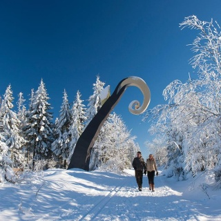 Krummstab des WaldSkulpturenWeges bei Schanze.