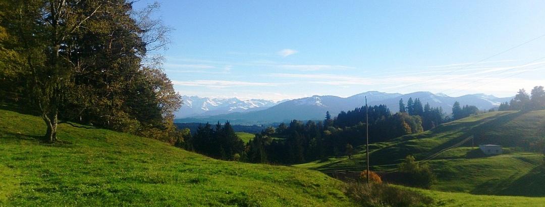 Weitblick auf die Alpen