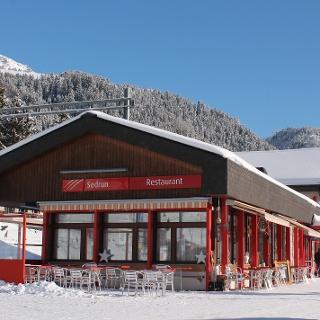 Bahnhofbuffet im Winter
