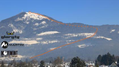 Skitour Gaisberg Übersichtsbild - Topo