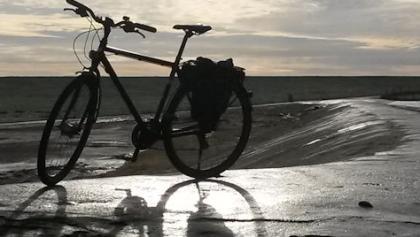 Mein Fahrrad im Gegenlicht