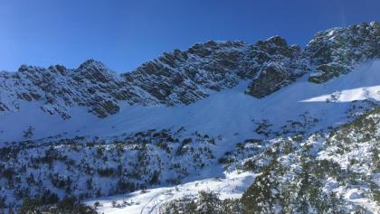 Blick zum Galinakopf von der Alpe