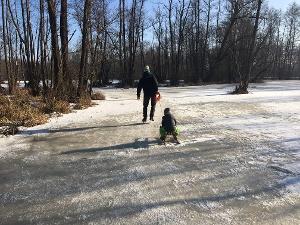 Schlittschuhlaufen auf den Boblitzer Wiesen
