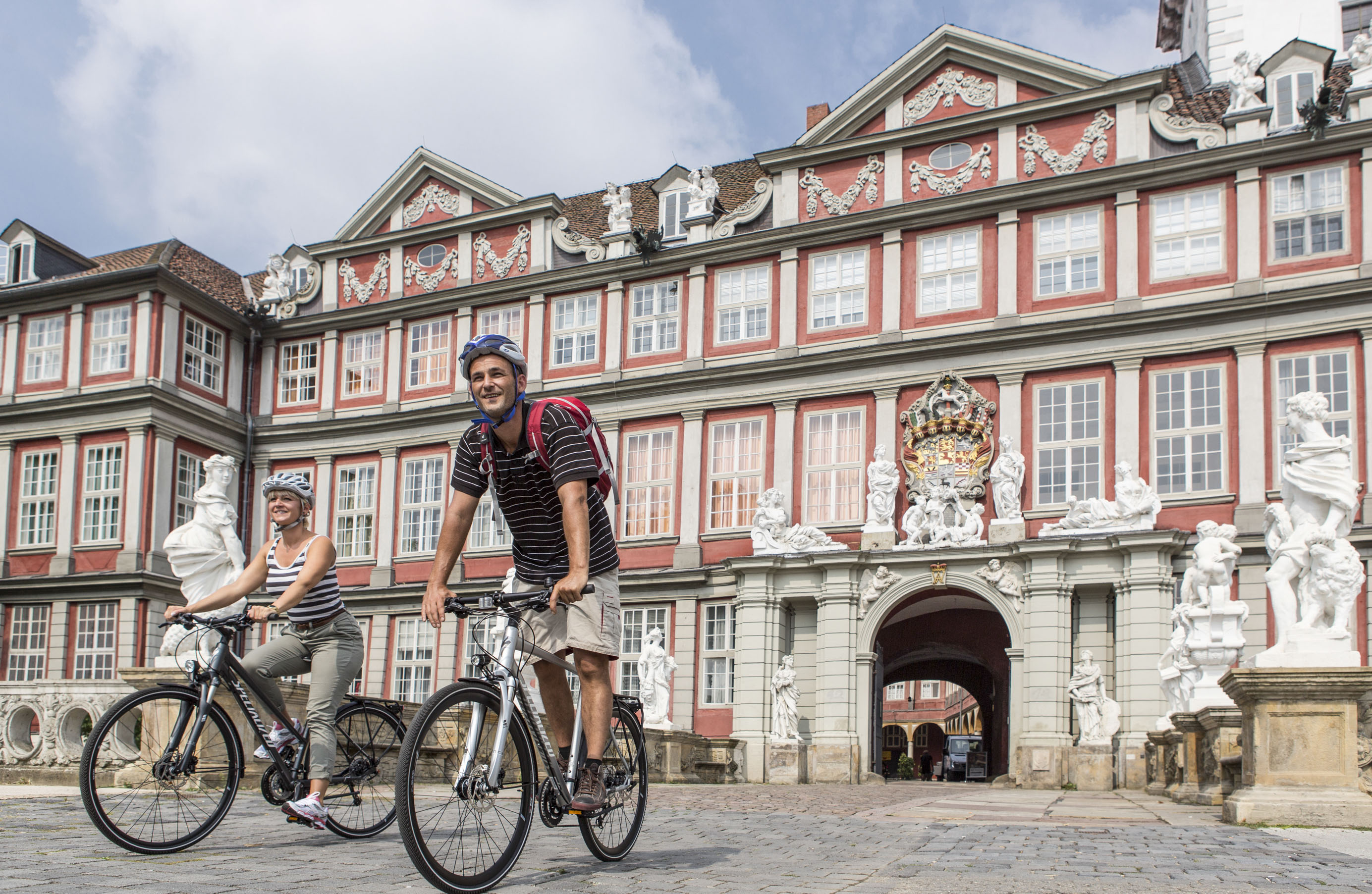 Start der Tour am Schloss Wolfenbüttel