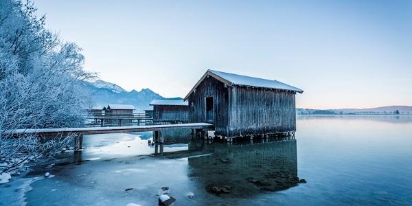 Bootshütte am Kochelsee