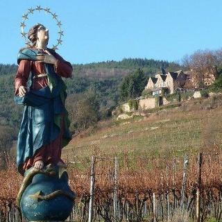 Unterhalb der Kropsburg bei St. Martin