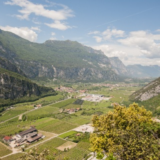 The Sarca Valley, view from the