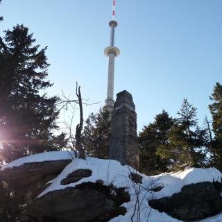 Gipfel Ochsenkopf - Fichtelgebirge