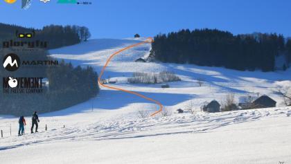 Fürmann Alm Skitour Überschitsbild - Topo