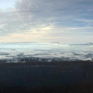 Panoramablick von der Klippe