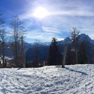 Panorama vom Hohen Brett bis zum Hochkalter