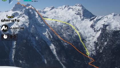 Birnhorn - Leoganger Steinberge - Übersichtsbild Skitour - Topo