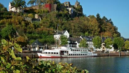 Blick von der Altstadtbrücke in Saarburg