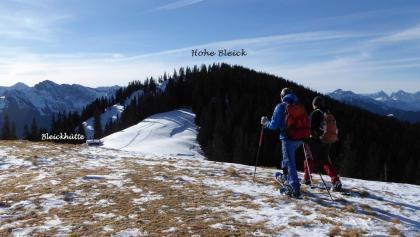 Blick von Niederbleick zur Hohen Bleick