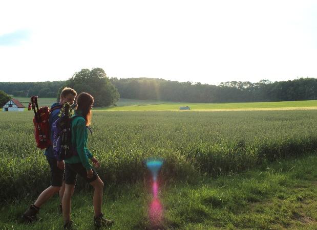 Wanderer auf dem Rutschenfelsen