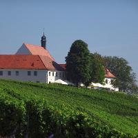 Vogelsburg in den Weinbergen von Volkach und Escherndorf
