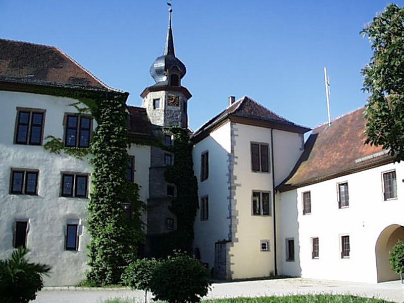 Schloss Schrozberg - Innenhof  - @ Autor: Beate Philipp  - © Quelle: Stadt Schrozberg