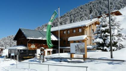 Weidener Hütte im Winter