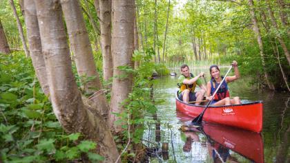 Auf Augenhöhe mit der Natur. Im Kanu durch Deutschlands Wasserreich Nr. 1 gleiten.