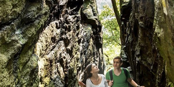 Wolfsschlucht - Aufgang von der Zschopau zum Schloss Wolkenstein