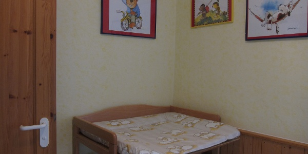 Wohnung Calendula, Wickeltisch