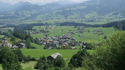 Schwarzenberg im Bregenzerwald - Blick von der Bödelestrasse