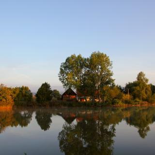 Dorfteich am Saale-Orla-Radweg