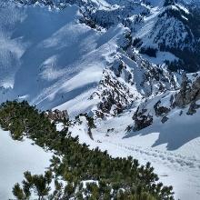 Aufstieg zum Gipfelgrat