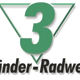 3-Länder-Radweg Odenwald - Markierung