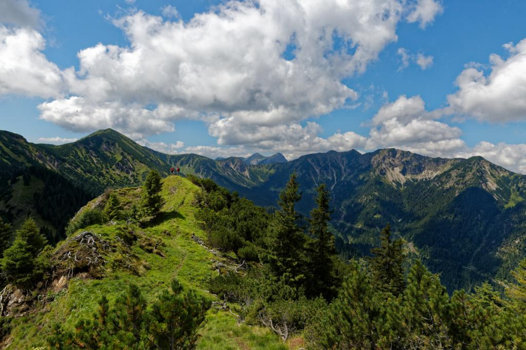Bergpanorama beim Abstieg