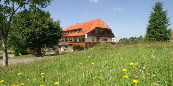 Gasthaus zum Breitenberg- umgeben von blühenden Bergwiesen