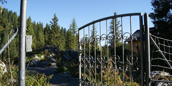 Eingang in den botanischen Garten