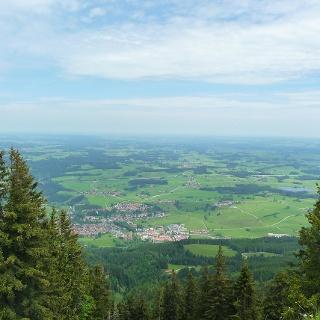 Der Ausblick von der Alpspitze