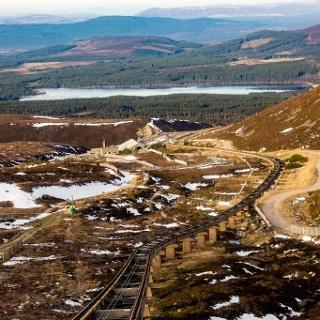 Lochnagar befindet sich in den Cairngorm Mountains im Nordosten Schottlands.