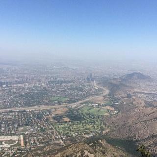 Sicht vom Cerro Manquehue auf Santiago