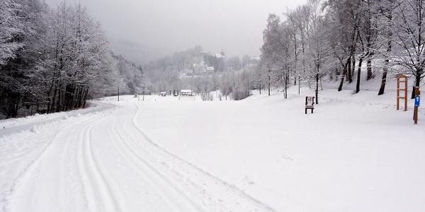 Kurpark Loipe - Startbereich am Skilift